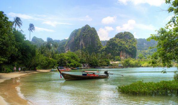 Speedboat in Krabi bay