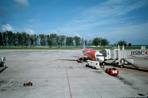 plane on Phuket airport