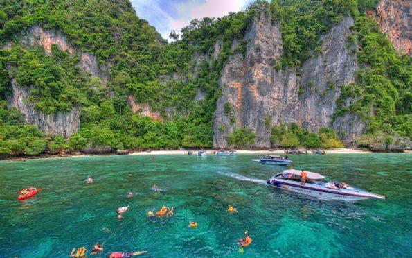 swimming on Koh Phi Phi