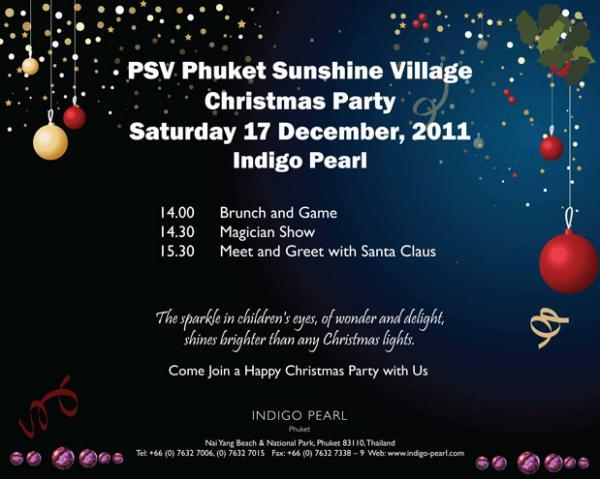 PSV Christmas Party 2011 at Indigo Pearl Phuket
