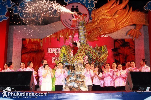 Phuket held Chinese New Year celebration 2012 at Sanam Chai