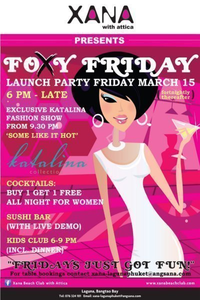 Phuket's XANA with Attica launches Foxy Friday