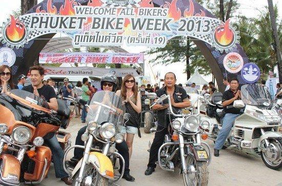Phuket sees bikers from 30 countries attend Bike Week 2013