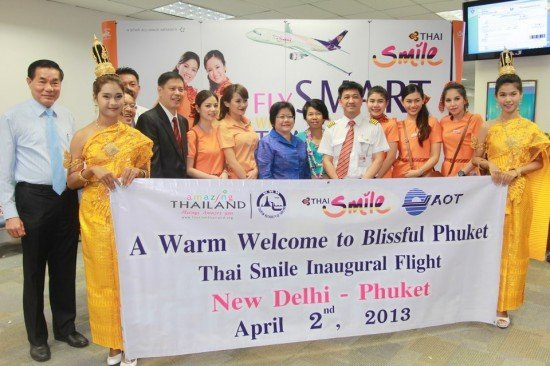 Phuket welcomes inaugural New Delhi - Phuket flight