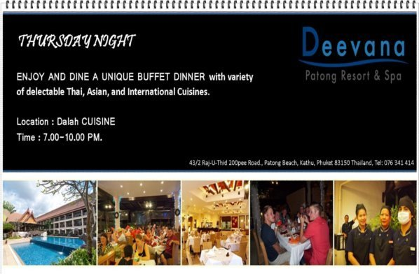 Unique Buffet Dinner at Deevana Patong