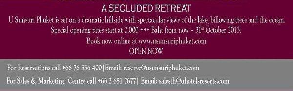 U Sunsuri Phuket Now Open