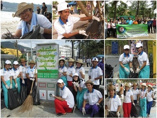 Phuket's Deevana Resort partake in beach cleaning activity