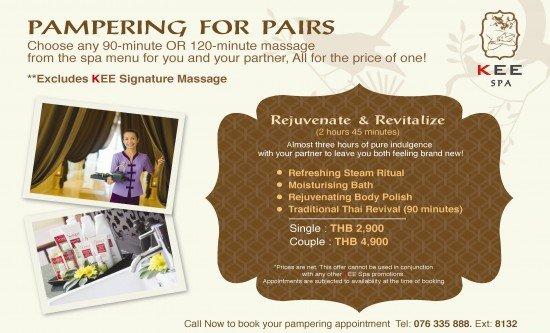 Pampering for Pairs at Phuket's KEE Spa