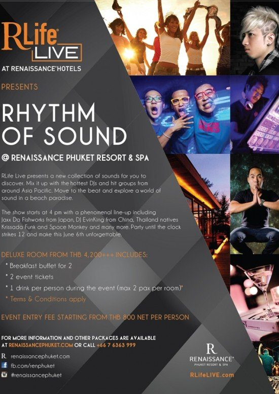 Renaissance Phuket to host Rhythm of Sound Dance Music Event