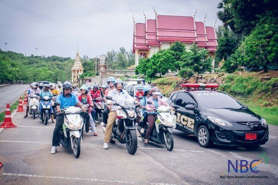 Rawai Municipality holds Road Safety & Crash Helmet Campaign