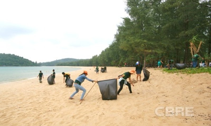 CBRE Phuket office joins Green Week activities