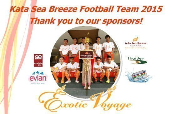 Exotic Voyage and Evian support Kata Sea Breeze Football Team