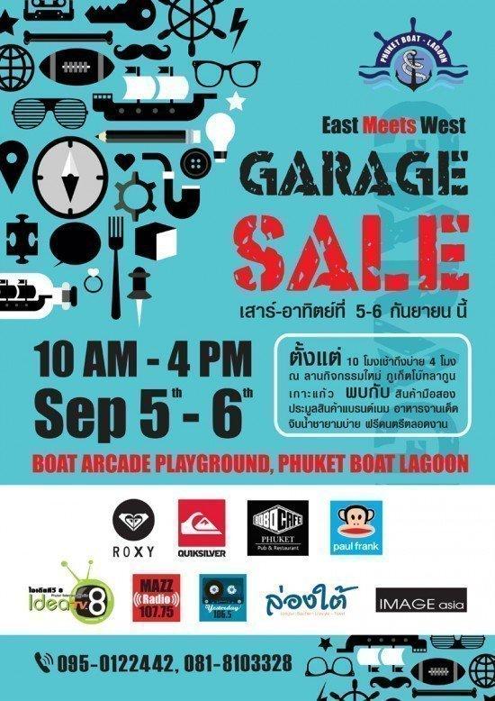 East Meets West Garage Sale Boat Arcade