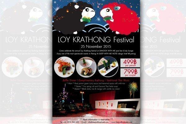 Loy Krathong Night 2015 at Sanook With Me Pool Bar & Sky Lounge