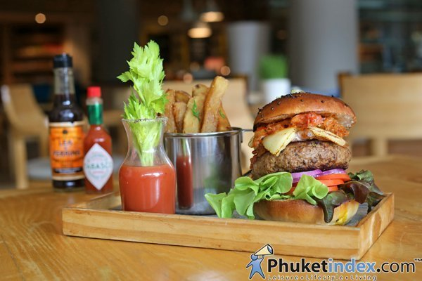 Bloody Mary Beef Pattie at Renaissance Phuket Resort & Spa