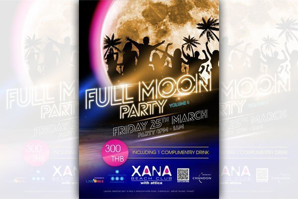 XANA Beach Club Full Moon Party Volume 4