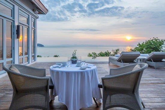 Amatara's ocean-view restaurant serving healthy spa cuisine