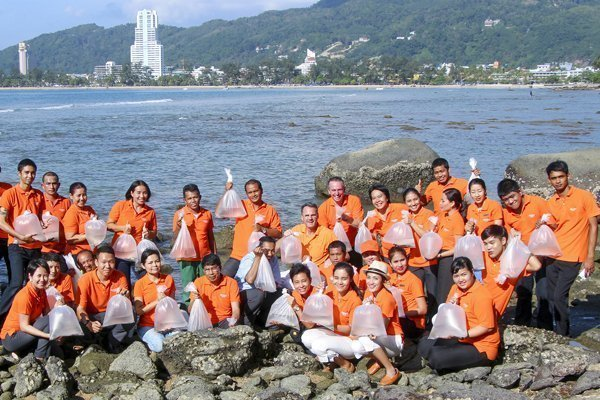 Amari Phuket holds a save the planet activity
