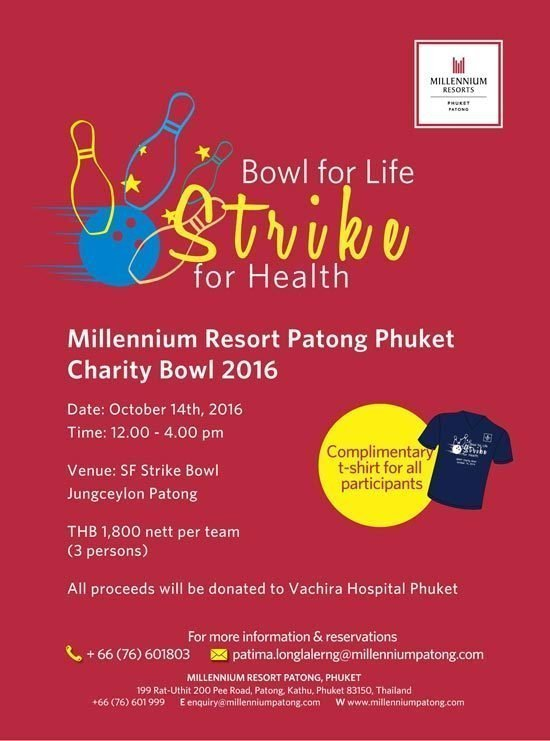 Millennium Resort Patong Phuket - Charity Bowl 2016