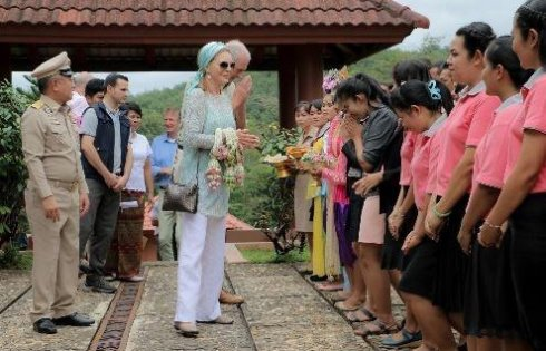 Her Majesty Queen Noor of Jordan extended a visit to Yaowawit School in Phangnga province
