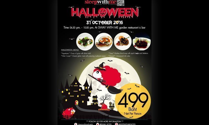 Halloween at SWAY WITH ME garden restaurant & bar