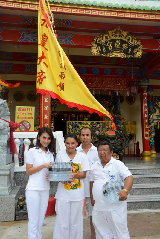 Donated drinking water  to Chinese Shrines in Phuket