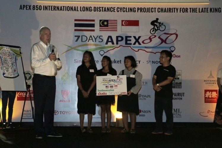 The 4th APEX850 Raised Funds for Yaowawit School & Vachira Hospital Scholarship Through A 7-Days Cycling Across South-East Asia