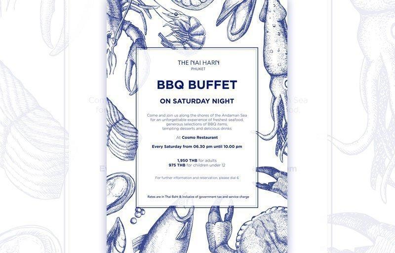 The Naiharn Phuket - BBQ buffet on Saturday Night
