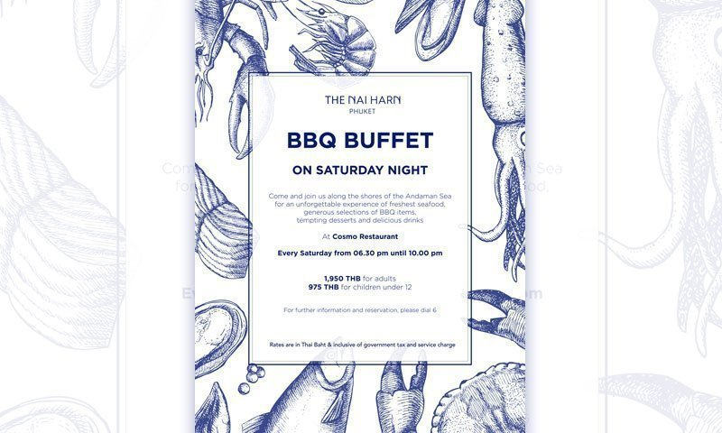 The Naiharn Phuket – BBQ buffet on Saturday Night