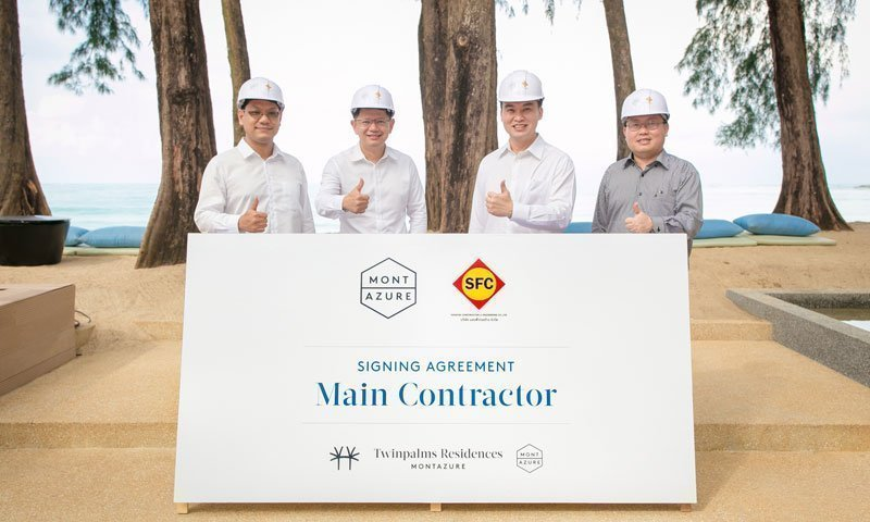 MontAzure Announces Main Contractor for Twinpalms Residences Phuket
