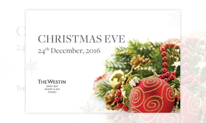 Christmas Eve at The Westin Siray Bay Resort & Spa, Phuket