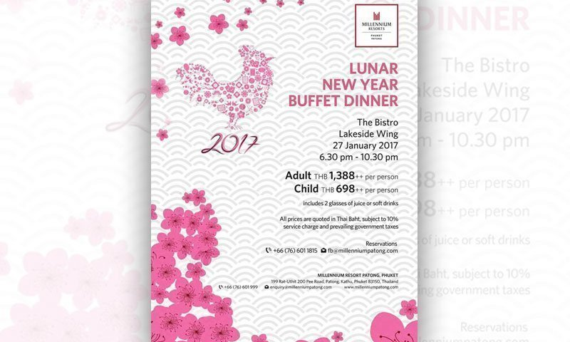 Lunar New Year Buffet Dinner at Millennium Resort Patong Phuket