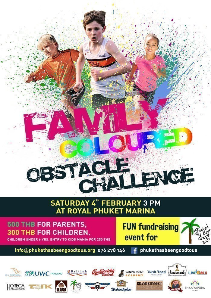Family Coloured Obstacle Challenge