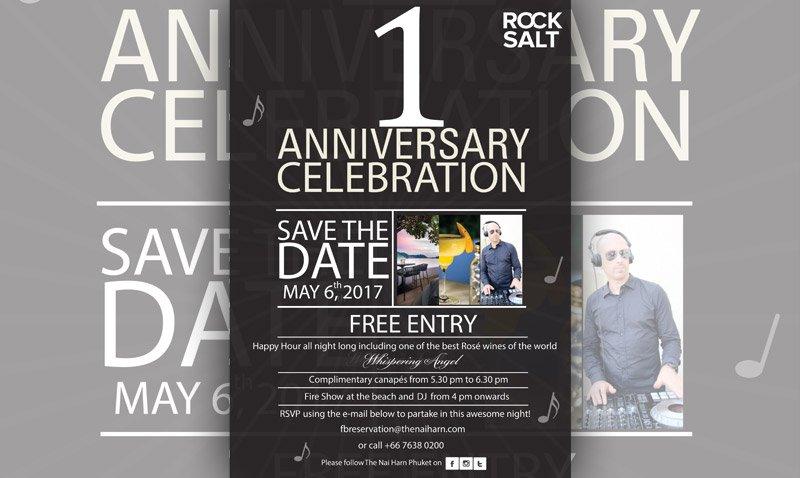 Rock Salt 1st Anniversary, THE NAI HARN Phuket