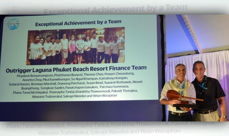 Outrigger Laguna Phuket Beach Resort Finance Team Wins Accolade All the Way from Hawaii