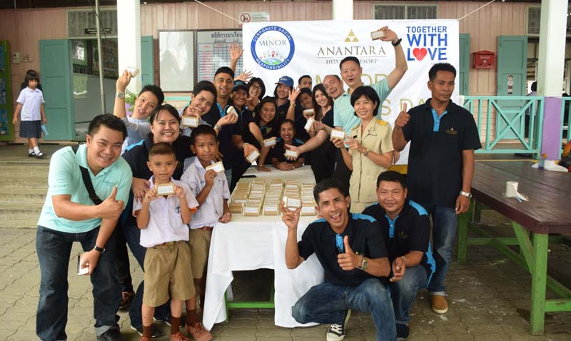 Anantara Hua Hin Launches a 'Soap for Hope' CSR Programme to Benefit a Local School