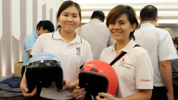 Leading Marriott Hotels in Phuket Hand in Hand Creating Helmet Safety Campaign