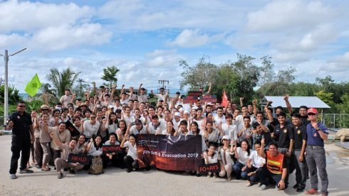 Phuket Marriott Resort and Spa, Nai Yang Beach, organized their team for Workplace Fire Drill Evacuation