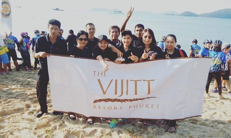 A group of The Vijitt Resort Phuket staff volunteer joined Turtle Ride 2017