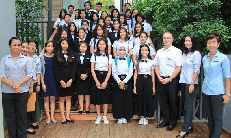 Phuket Rajabhat University students meet Amari Phuket's professional hoteliers