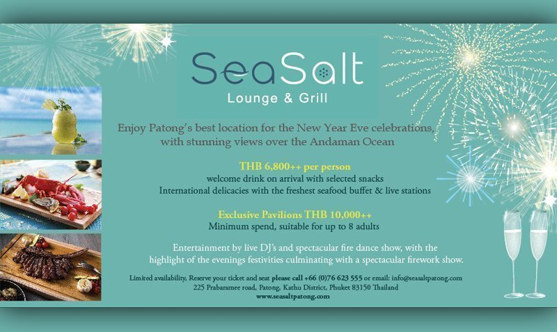 """""""New Year's Eve Gala Dinner at Sea Salt Lounge & Grill"""""""