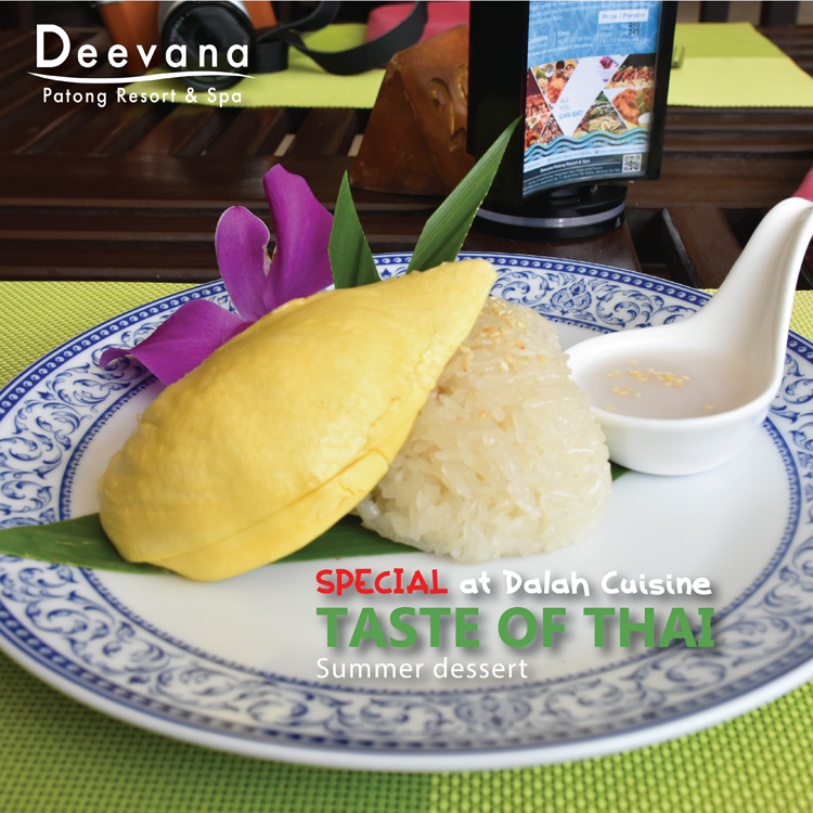 Explore the tropical flavours of Thai Summer Dessert at Dalah cuisine