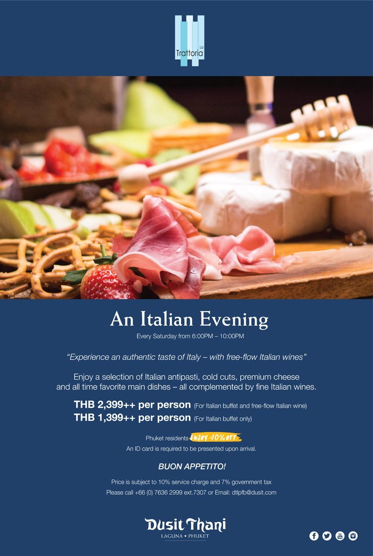 Experience an authentic taste of Italy – with free-flow Italian wines