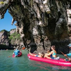 катание на каноэ по пещерам на пхукете
