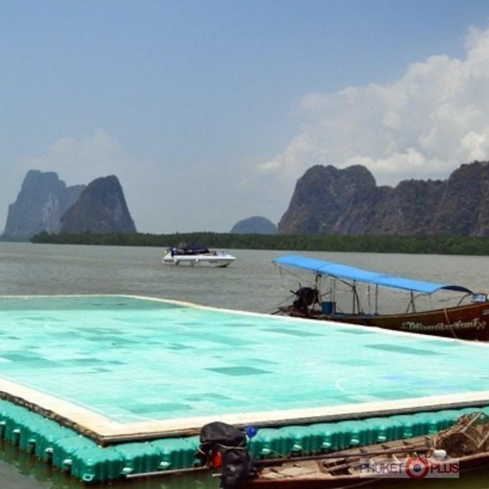 как выглядит плавучее футбольное поле в таиланде