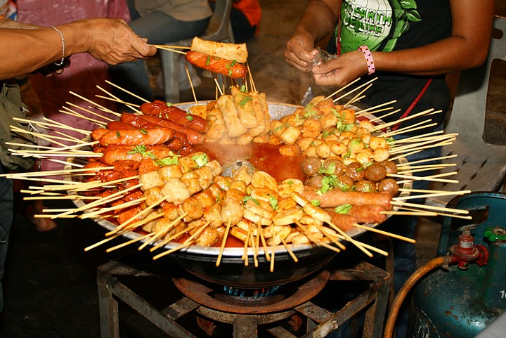 Some kebabs sold on the street, Phuket Town