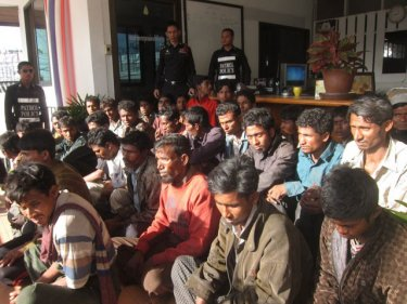 Rohingya would-be-refugees on Phuket after arriving in a boat in February