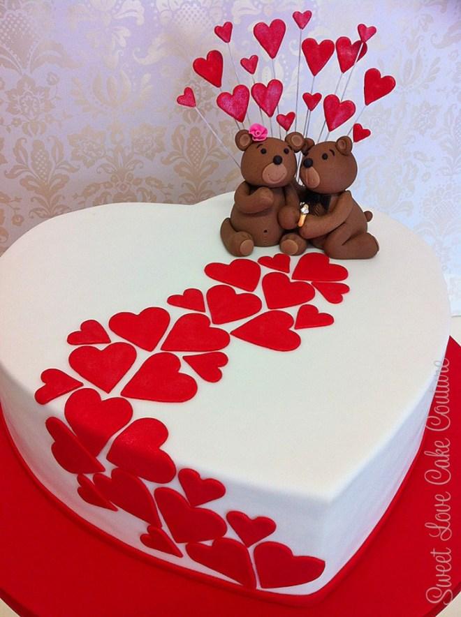 Bánh sinh nhật gấu tặng người yêu