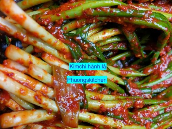 Kimchi hành lá