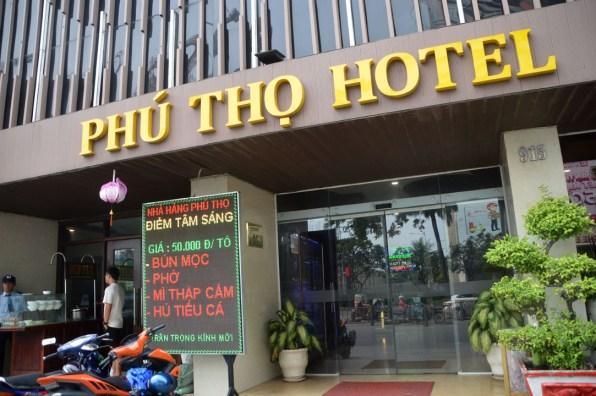 Mặt tiền khách sạn Phú Thọ